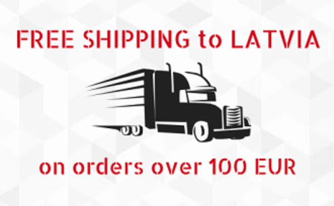 Free shipping to Latvia